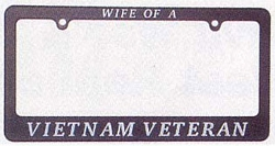 Wife of a Vietnam Veteran License Plate Frames